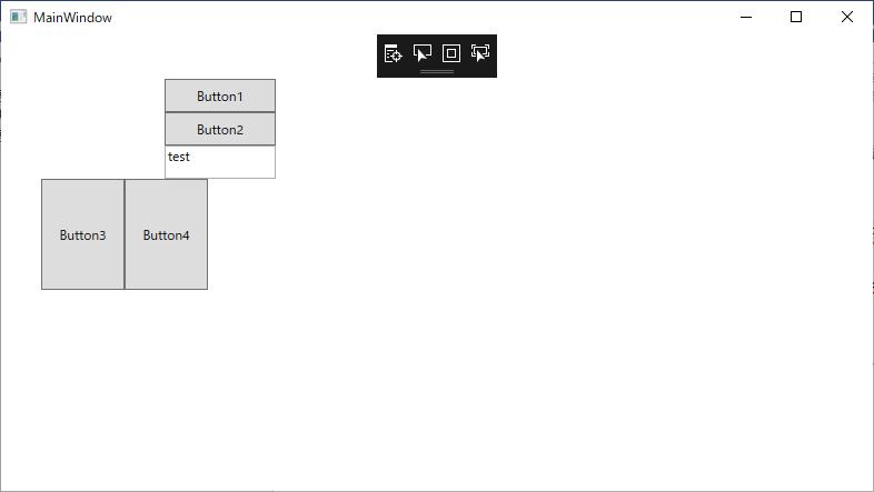 StackPanelを使用しての実行例