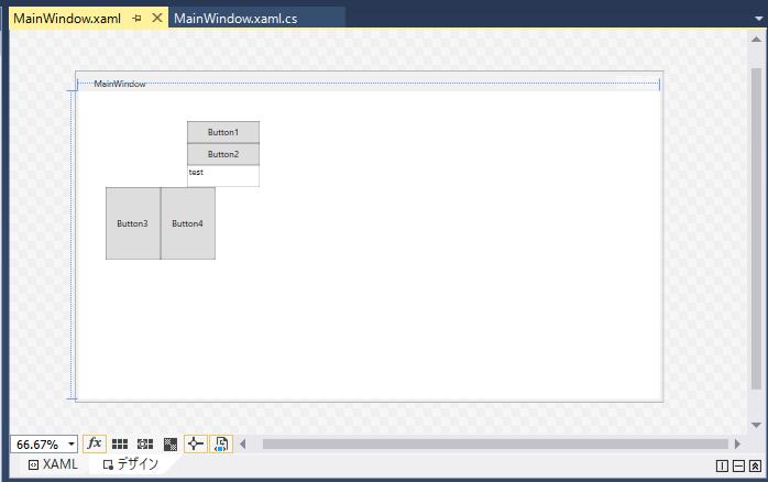 StackPanelを使用してのレイアウト確認
