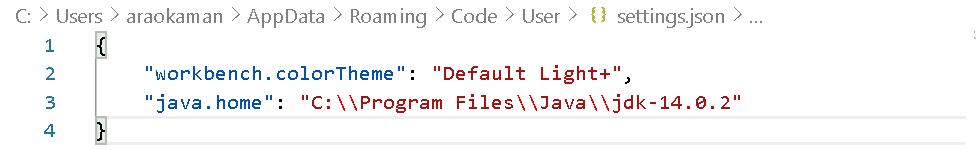 java homeのコード